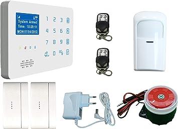 ECTECH Sistema de Alarma GSM Inalámbrica, LCD Pantalla Touch ...