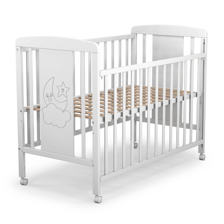 1 lateral abatible y 3 posiciones de somier Cuna para beb/é modelo cielo