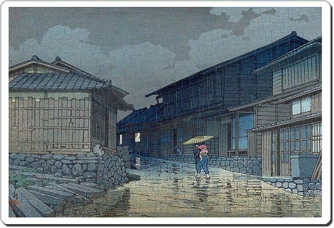 Rain at Shinobazu Pond ukiyo-e mouse pad MADE IN JAPAN 12018 Kawase Hasui