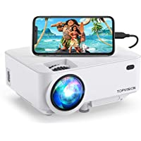 Mini Projector, TOPVISION 4000LUX Outdoor Movie Projector with Synchronize Smart Phone Screen,Full HD 1080P Supported…