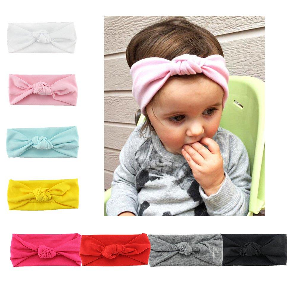 Lot de 8 Pièces Bandeau Cheveux Enfant Uni de Nœud Turban Elastique Couleur  Pure Accessoire Cheveux Petite Fille...  Amazon.fr  Vêtements et accessoires b62463d9290