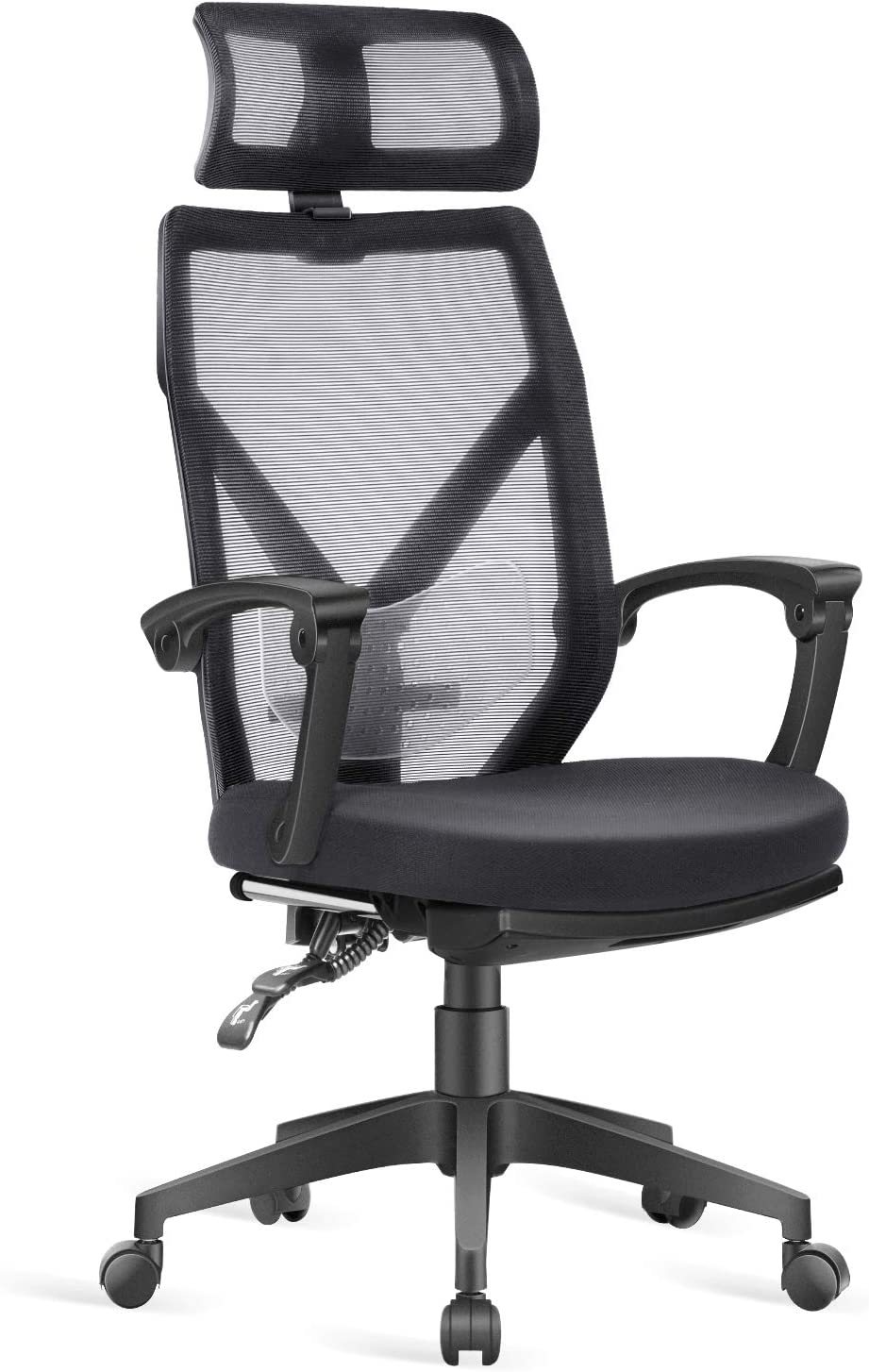 Office Chair - Dripex Home Office Desk Chair - Ergonomic Computer Chair with Footrest and Lumbar Support - Mesh Recliner Chair