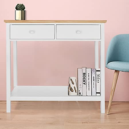 Panana Console Table Stunning Kitchen Hall Table with 2 Drawers and ...