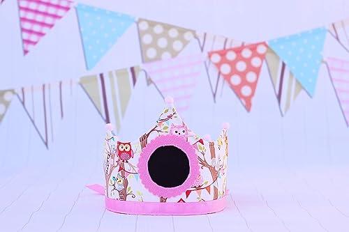 Decoración de cumpleaños infantil, corona de tela, regalo ...