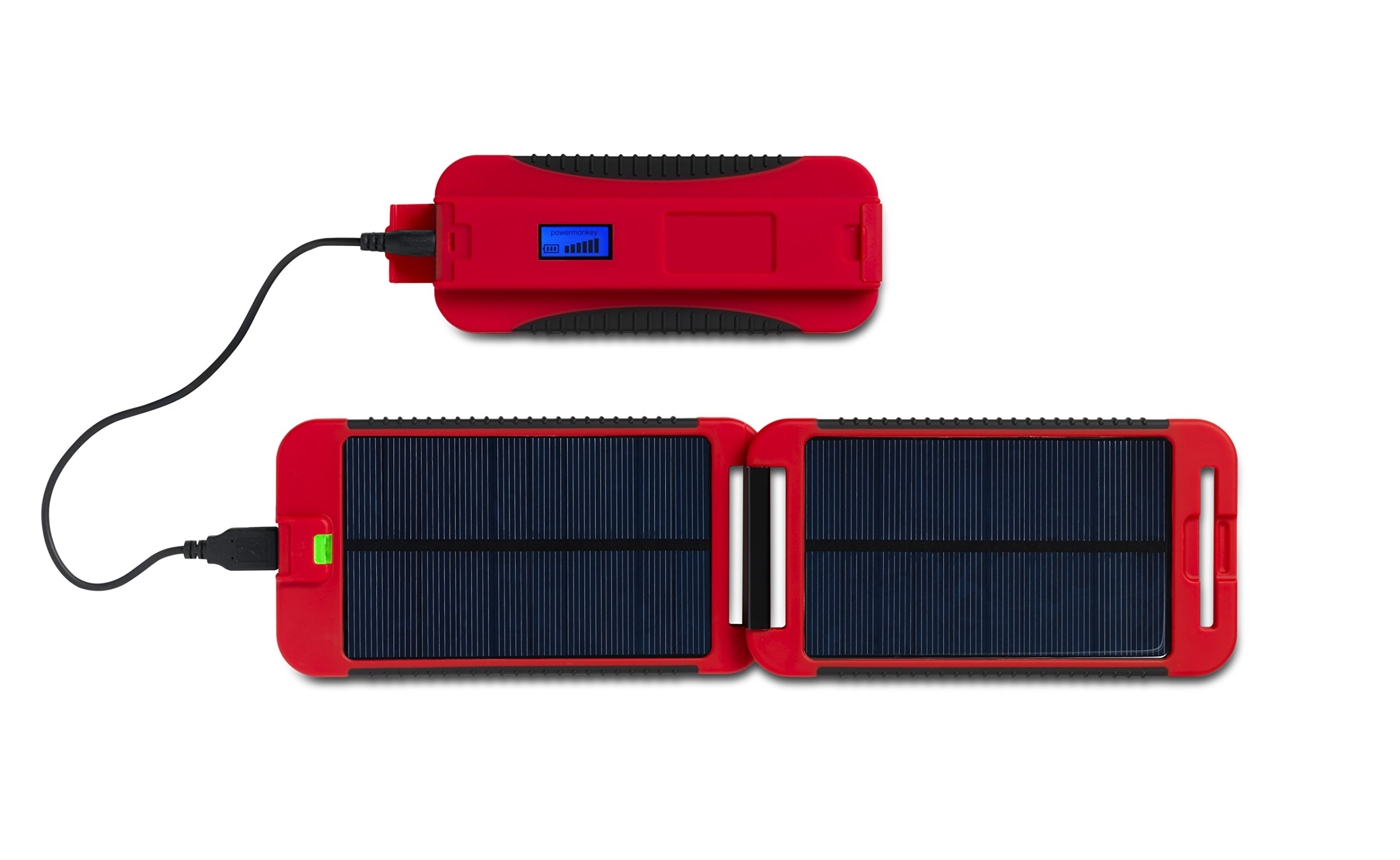 Exo-Science Powermonkey Extreme 5V and 12V Solar Portable Charger, Red by Exo-Science (Image #2)