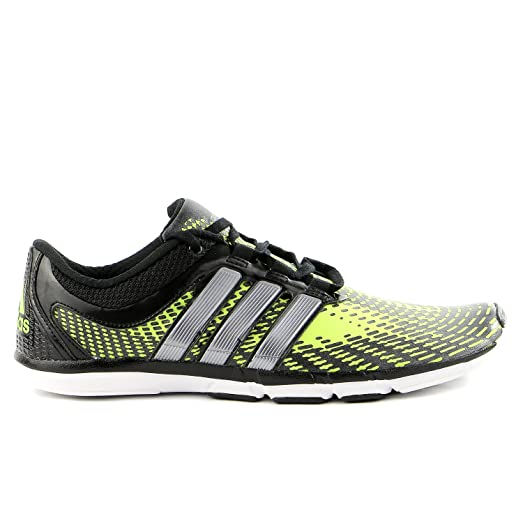 Adidas AdiPure Gazelle 2 Running Shoe - Solar Slime/Black/White - Mens -