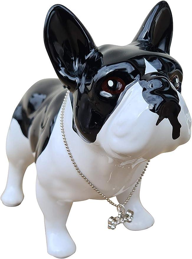 Spardose Französische Bulldogge Keramik Modell Terrier Maween Laure L17cm Dekoration