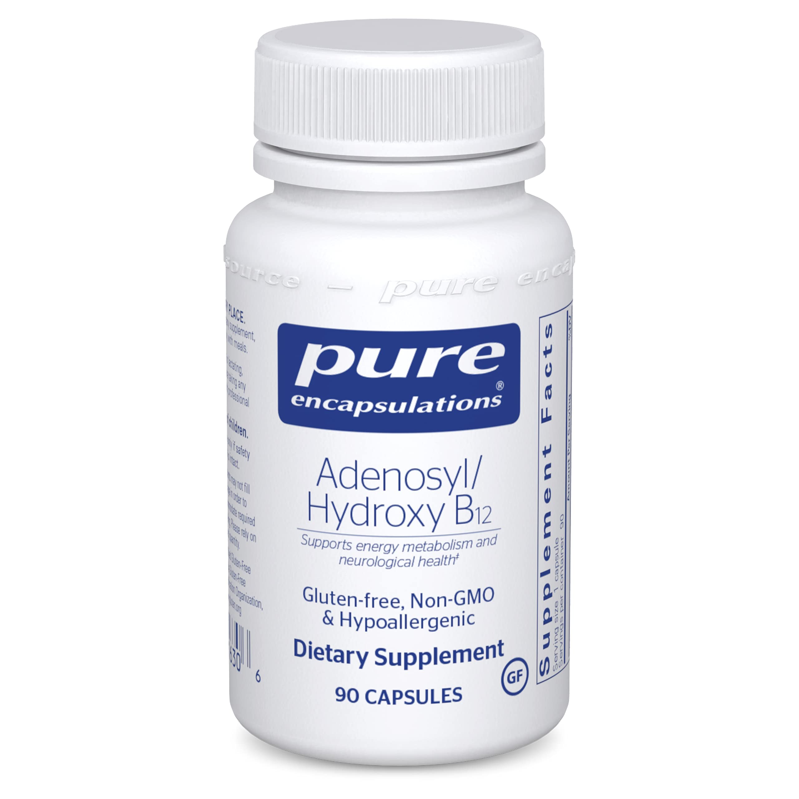 Pure Encapsulations Adenosyl/Hydroxy B12   Blend with Vitamin B12 for Nerve and Mitochondrial Support*   90 Capsules