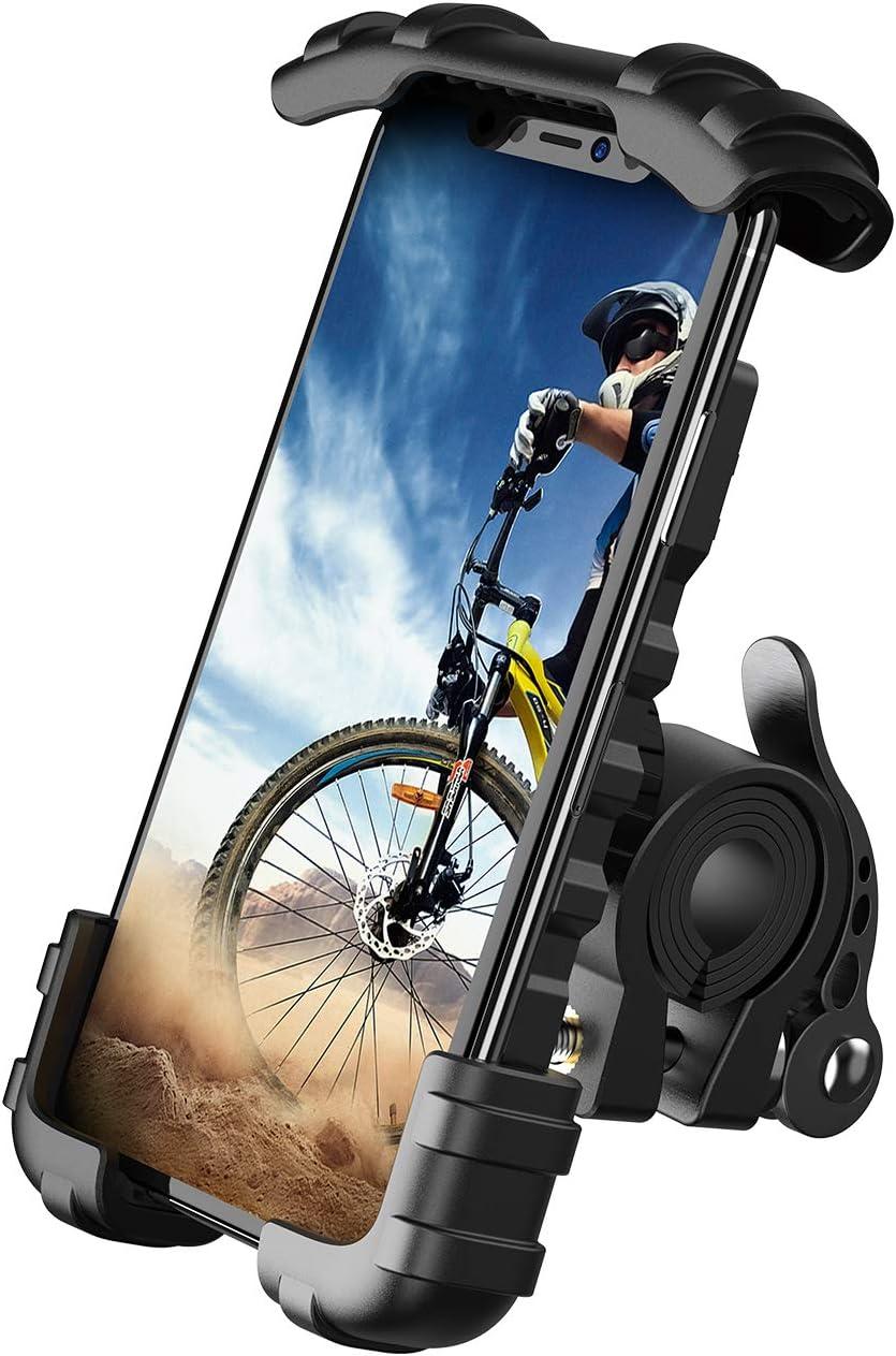 Lamicall Soporte Movil Bicicleta, Soporte Motocicleta - Rotación 360° Soporte Manillar para iPhone 12 Mini, 12 Pro Max, 11 Pro, XS Max, XR, X, 8, 7, 6S, Samsung S10 S9 S8, Huawei, 4.7-6.8