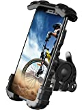 Bike Phone Holder, Motocycle Phone Mount - Lamicall Motocycle Handlebar Cell Phone Clamp, Scooter Phone Clip for iPhone…