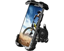 Bike Phone Holder, Motorcycle Phone Mount - Lamicall Bicycle Handlebar Cell Phone Clamp, Scooter Phone Clip for Phone 11 Pro