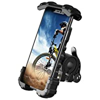 Bike Phone Holder, Motorcycle Phone Mount - Lamicall Motorcycle Handlebar Cell Phone Clamp, Scooter Phone Clip for Phone 11 / Phone 11 Pro Max, S9, S10 and More 4.7