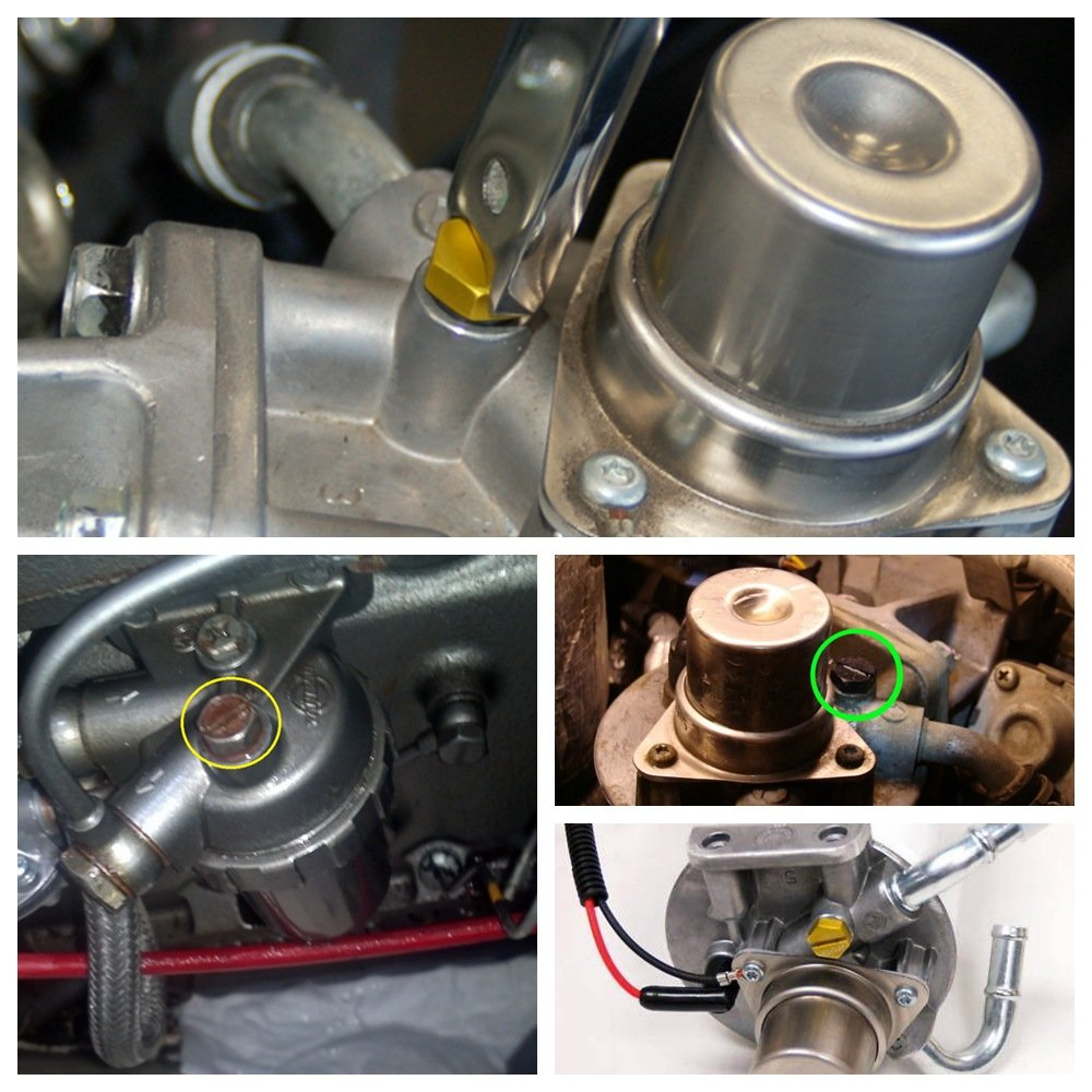 EDTara Air Bleeder Screw Automobile Universal Fuel Filter Screw High Strength Aluminum Alloy Screw Car Accessory Red