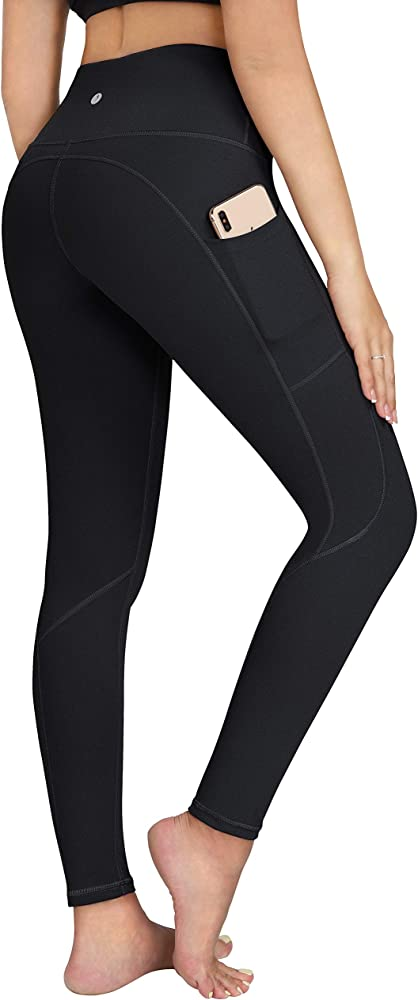 ESPIDOO Yoga Pants for Women 4 Way Stretch Sports Leggings with Pockets High Waist Tummy Control