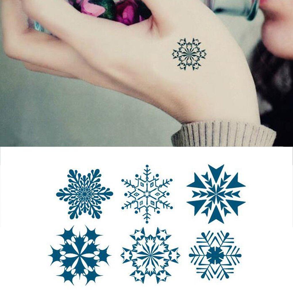 muluo nuevo Mini copo de nieve adhesivo de vinilo extraíble ...