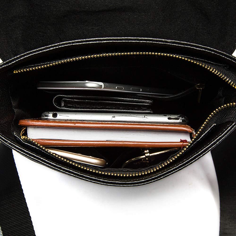 MLMHLMR Mens Messenger Bag Shoulder Bag Vintage Leather Briefcase Crossbody Bag Briefcase