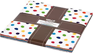 Dot and Stripe Delights Ten Square 42 10-inch Squares Layer Cake Robert Kaufman Fabrics TEN-763-42