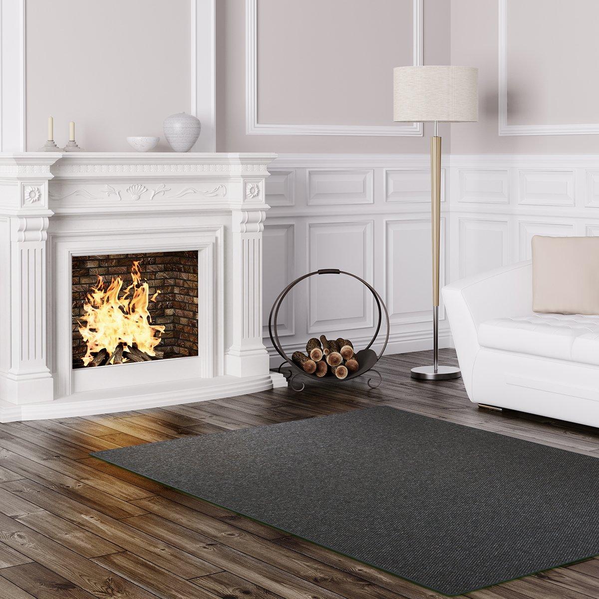 Schlingen Teppich Stanford - Farbe: Grau Blau Anthrazit Grün oder Rot | besonders strapazierfähige Qualität | Fu