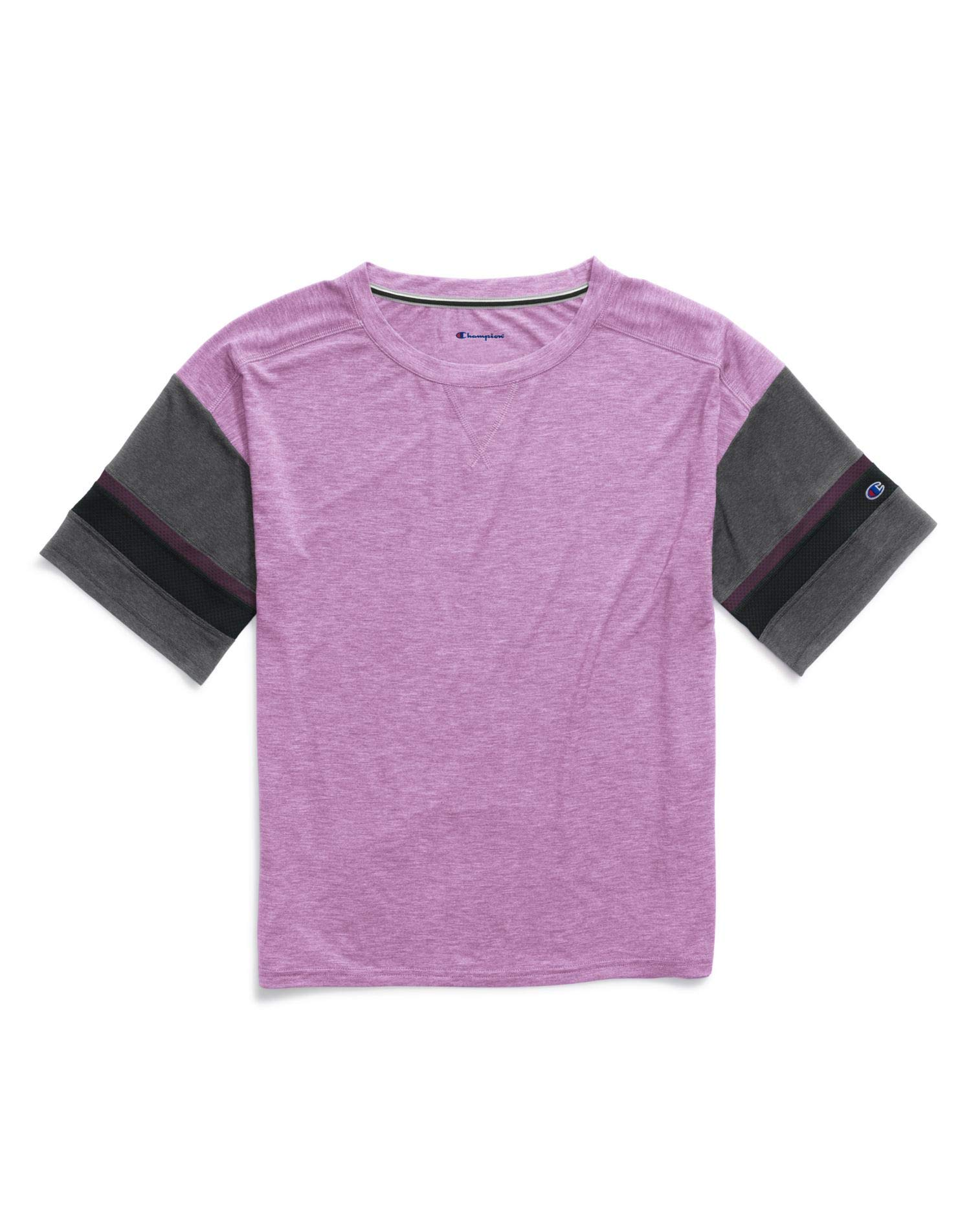 Champion Womens Gym Issue Football Tee, M, Paper Orchid Heather