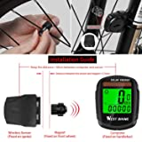 Bicycle Pedometer Odometer Solar Power Speedometer, Bike Wireless Waterproof Cycling Computer, Biking Accessories with LCD Display Auto Wake-up Motion Sensor & Multi-Functions