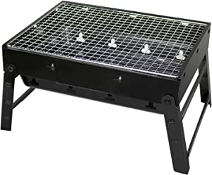 TRENDBOX BBQ Grill, Folding Charcoal Grill for Outdoor Grilling, Cooking, Picnics Party 13.7''x10.6''x7.5''