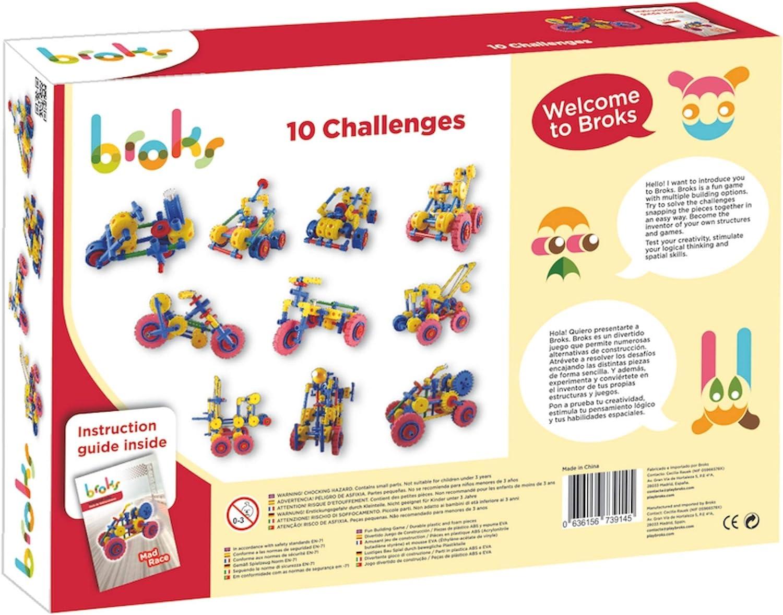 Broks Mad Race - Juego de construcción con 118 Piezas encajables incluidos Engranajes niños y niñas de 4 a 9 años: Amazon.es: Juguetes y juegos