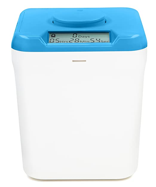 Amazon.com: Kitchen Safe: Time Locking Container (Blue Lid + White Base) - 5.5