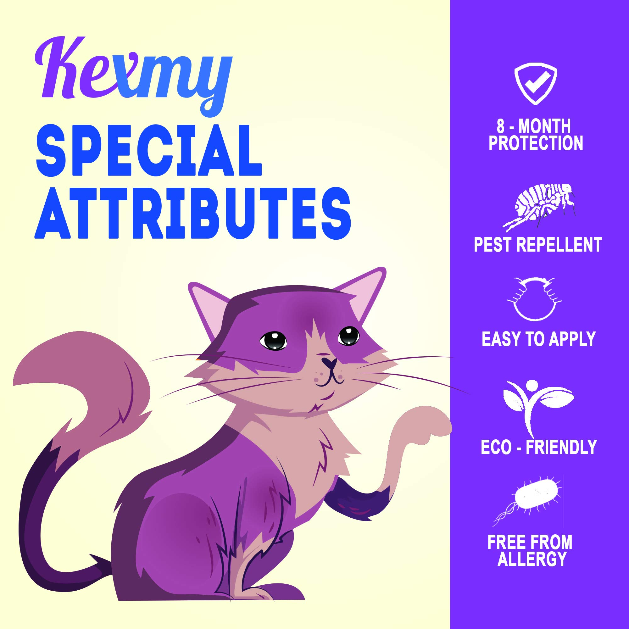 100/% Natural Essential Oils That Kill and Repel Fleas Cat Flea Treatment 8 Months Flea Control and Protection for Cats KEXMY Cat Tick and Flea Collar Adjustable /& Waterproof Cat Collar