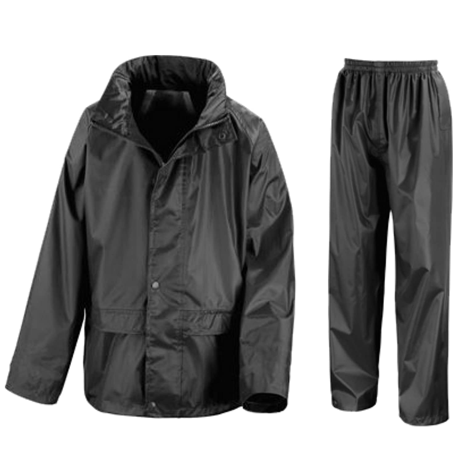 Kids Waterproof Jacket & Trousers Suit Set in Black, Navy Blue or ...