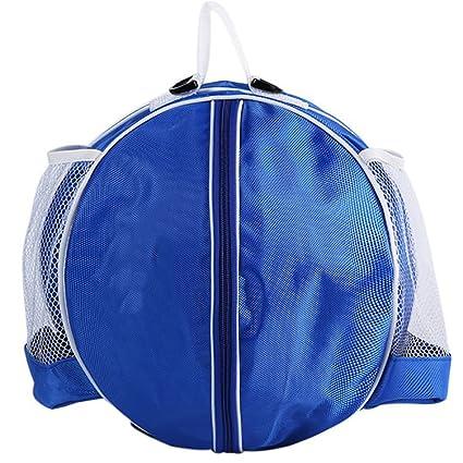 SHEDEU - Bolso de balón de baloncesto con forma redonda, mochila ...