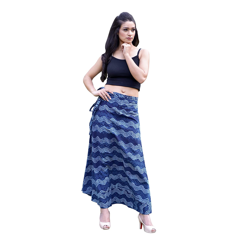Beige1 SNS New Wraparound Skirt Handloom Raw Cotton Fabric Kasuti Embroidered