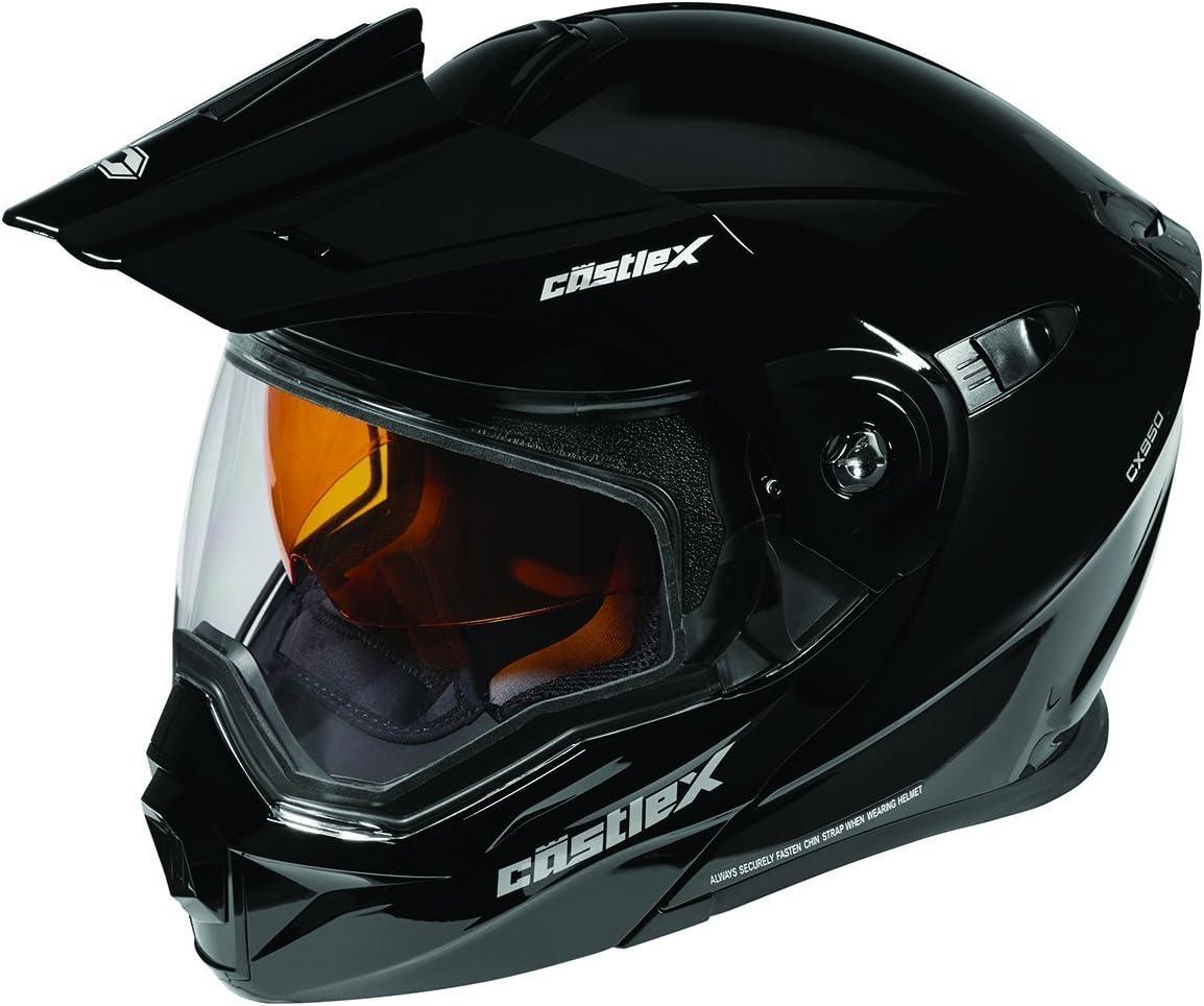 Castle X EXO-CX950 Modular Snowmobile Helmet Solid Black LRG