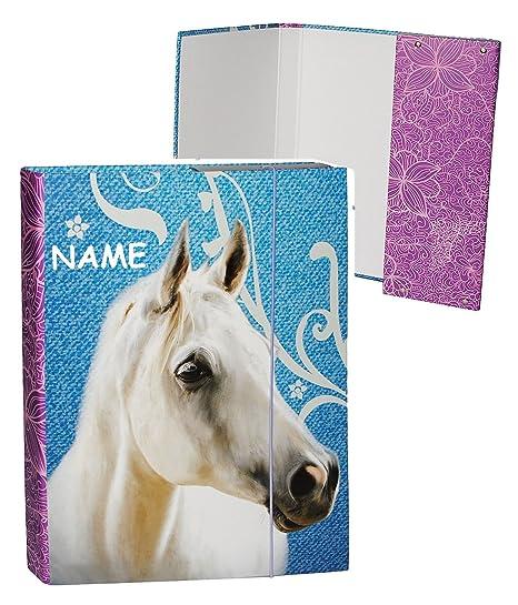 "Mango de carpetas/carpeta A5 - ""caballo - el moho"" - para"