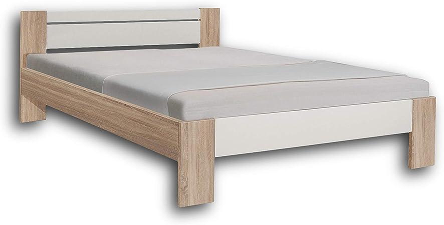 AVANTI TRENDSTORE ca.145x68x204 cm materasso e doghe NON comprese Fusto letto in 3 colori disponibile Pinto Bianco