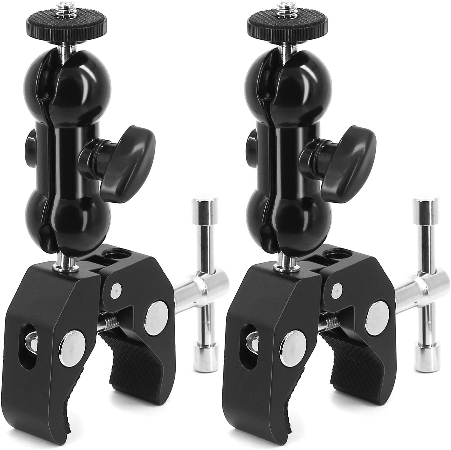 2Pack Camera Clamp Mount Monitor Mount Bracket Double Ballhead Ball Arm with Super Clamp for Ronin M Ronin MX Freefly MOVI