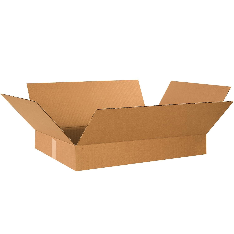 19 x 12 x 3 Pack of 25 Kraft BOX USA B19123 Flat Corrugated Boxes