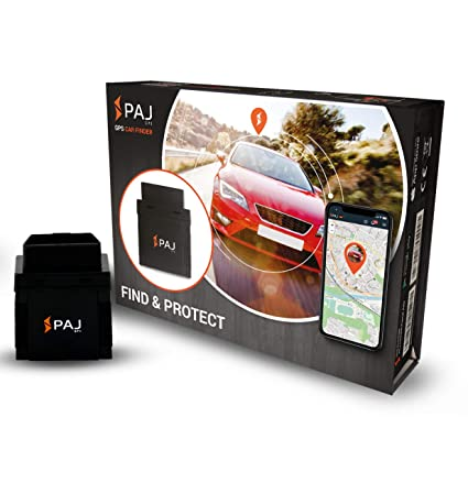 PAJ GPS Tracker Automóvil, vehículos y Camiones Transmisor GPS para automóvil OBD2 con aplicación Autofinder en Vivo en Tiempo Real - ABO DE 4.99 € / ...