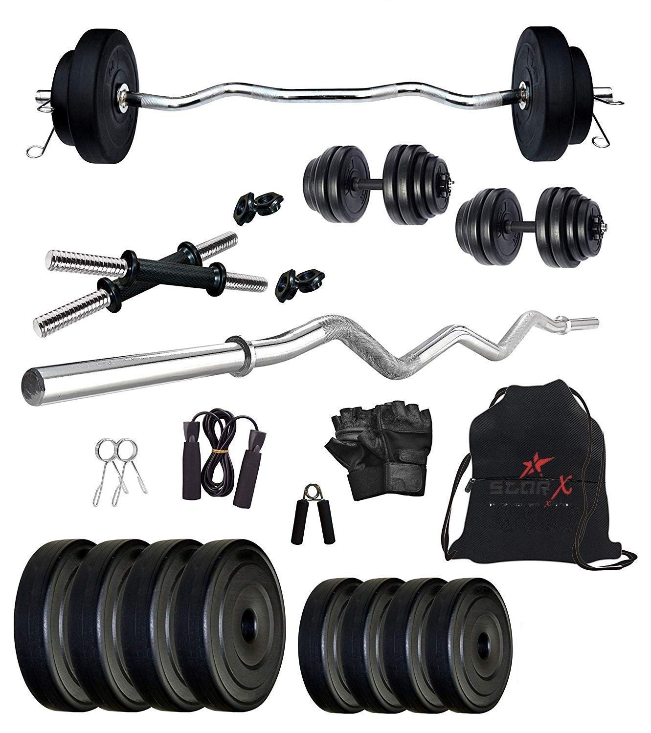 Star X 12 Kg Home Gym Combo with 3 Feet Rod