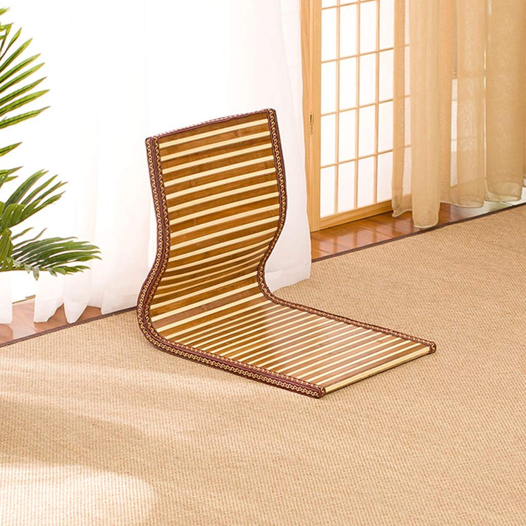 RXY-Wicker chair Japanese Rattan Bed Computer Chair Living Room Floor Cushion Simple Floating Window Sofa Stool (Color : B, Size : 46x38x41cm)