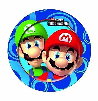 Bigiemme - Platos Super Mario Bros Wii 23cm 8PZ: Amazon.es ...