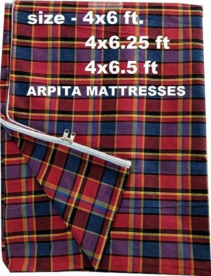 Shri krishan kripa handloom Cotton Mattress Cover Protector (72x48x4, Multicolour)