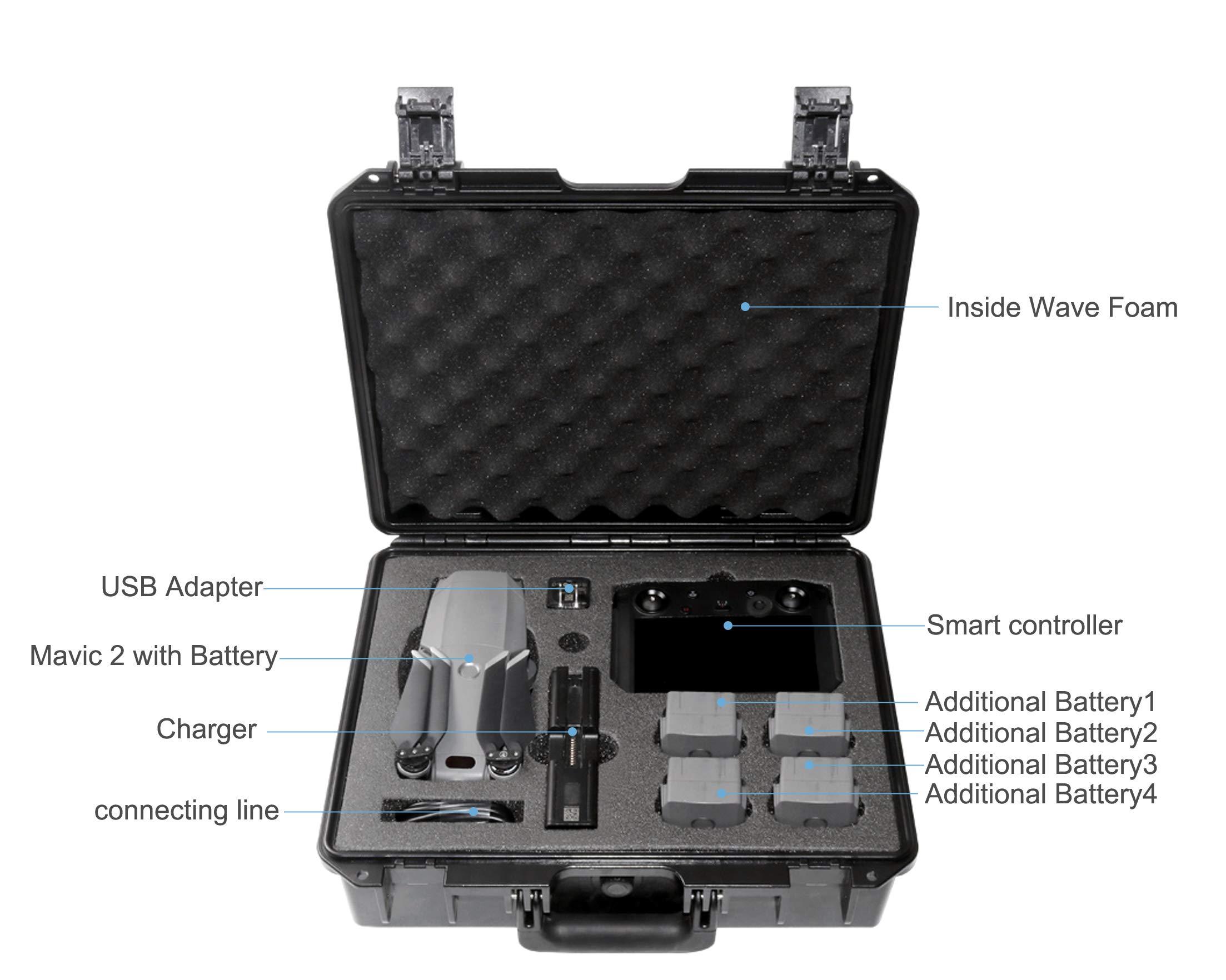 Koozam DJI Mavic 2 Waterproof Hard Case, with Smart Controller, for Mavic 2 Pro and Zoom Drones, Waterproof and Shockproof (for Mavic 2 with Smart Controller) by Koozam (Image #2)