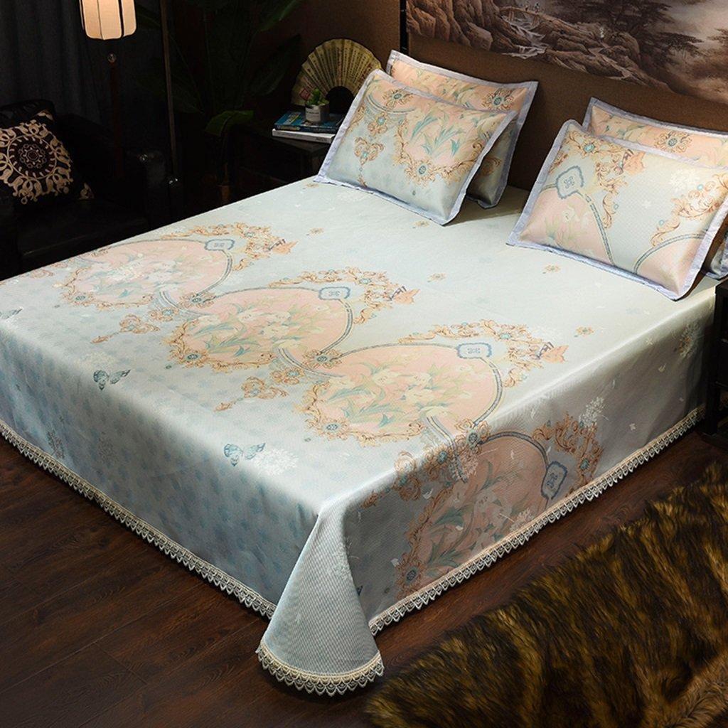 ベッドスカート氷シルクマットスリーピース1.8mベッドは洗濯することができます空調ソフトシートマシンウォッシュシート1.5メートルダブルマット (色 : 3, サイズ さいず : 150*200cm) B07F2MJL5C 150*200cm 3 3 150*200cm