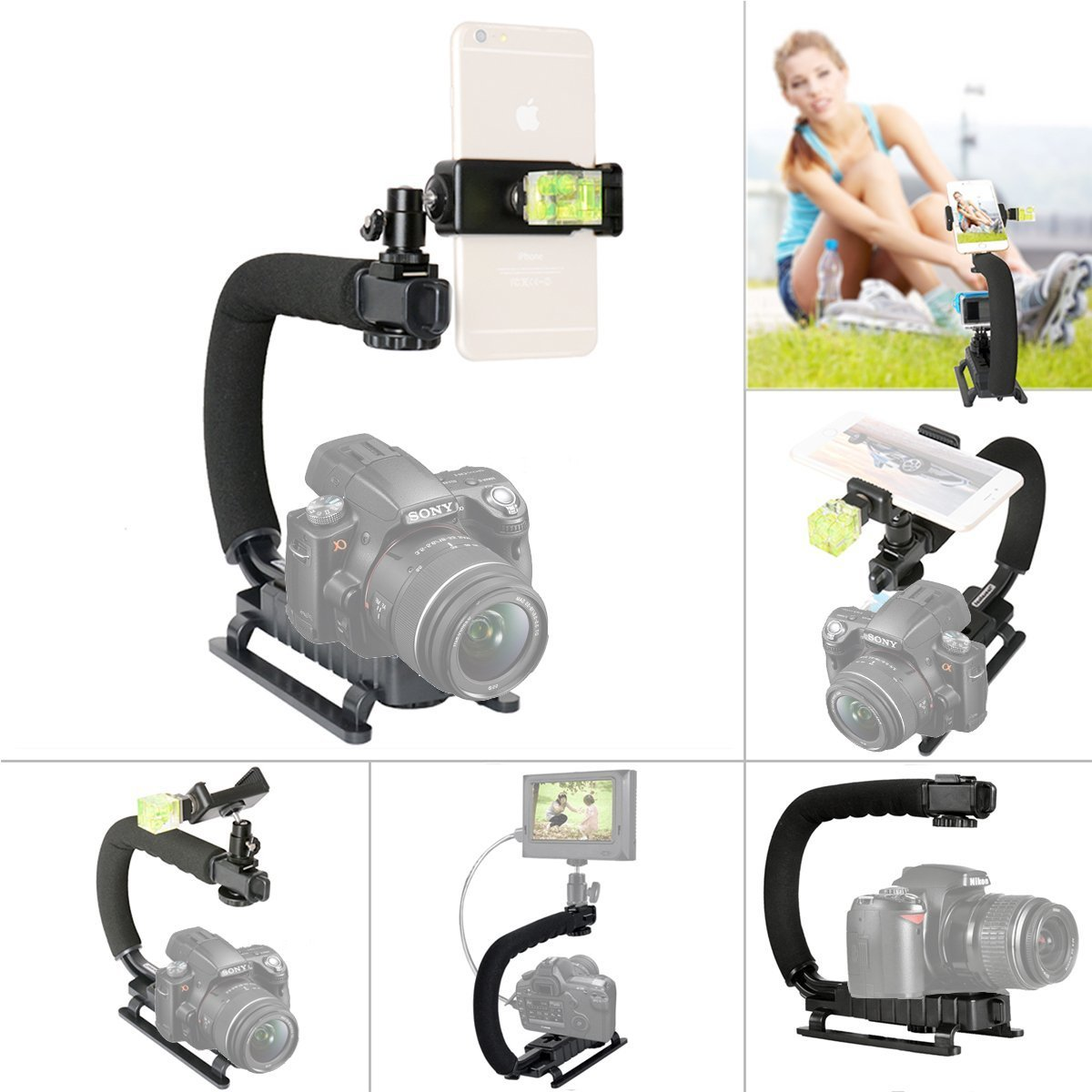 Fantaseal® Car Suction Cup Mount Holder Action Camera Cellphone Mobile Phone Car Mount Wall Mount Glass Mount Window Mount Car Support Holder Smartphone Holder for GoPro Suction Cup Mount GoPro Car Mount GoPro Holder Mount for GoPro Hero 6 / 5 / 4 /3+/