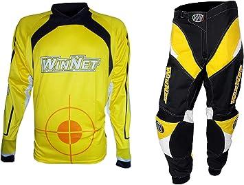 WinNet completo tuta per moto da cross o motard blu bianco nero maglia e pantaloni