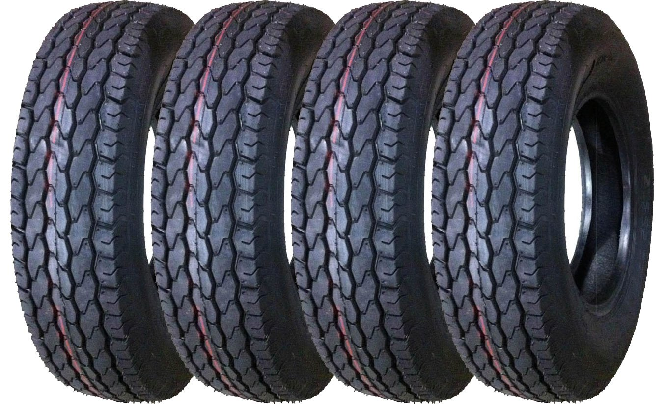 4 New Free Country Trailer Tires ST 205/75D14 Load Range C Deep Tread - 11020 …