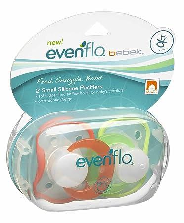 Amazon.com: Evenflo bebek 2 Count Chupete de silicona, las ...