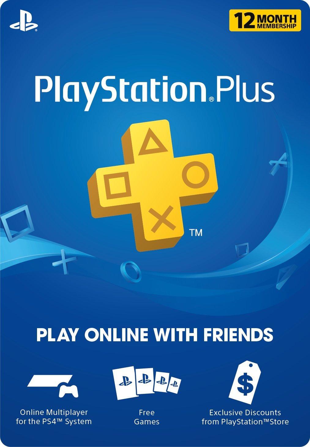 Amazon PlayStation Plus 12 Month Membership Digital Code