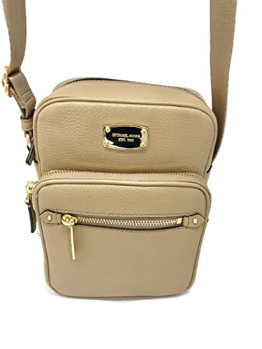312c71a146 Image Unavailable. Image not available for. Color  MICHAEL MICHAEL KORS  LEATHER BEDFORD ZIP BISQUE FLIGHT MESSENGER CROSSBODY BAG