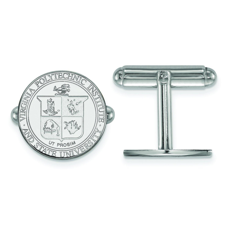 Virginia Tech Crest Cuff Links (Sterling Silver)